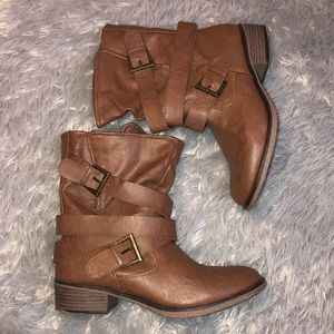 Mossimo Supply Co. Brown Ankle Boots